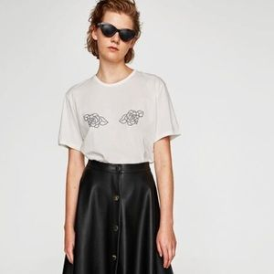T shirt with design by Zara